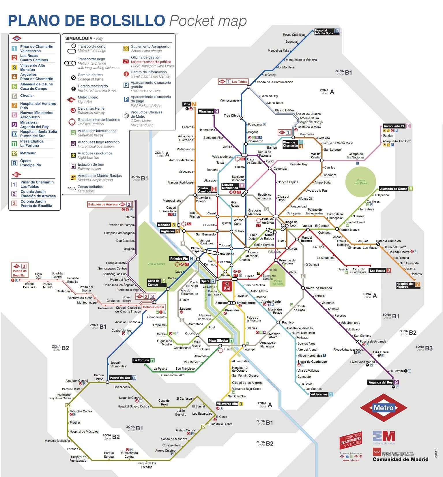 Zona Retiro Plano de Metro de Madrid 2014Peridico diario de